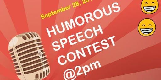 Toastmasters humorous speech contest