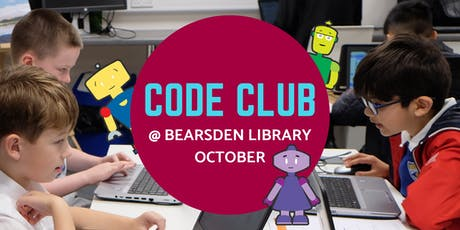 October Code Club @ Bearsden Library tickets