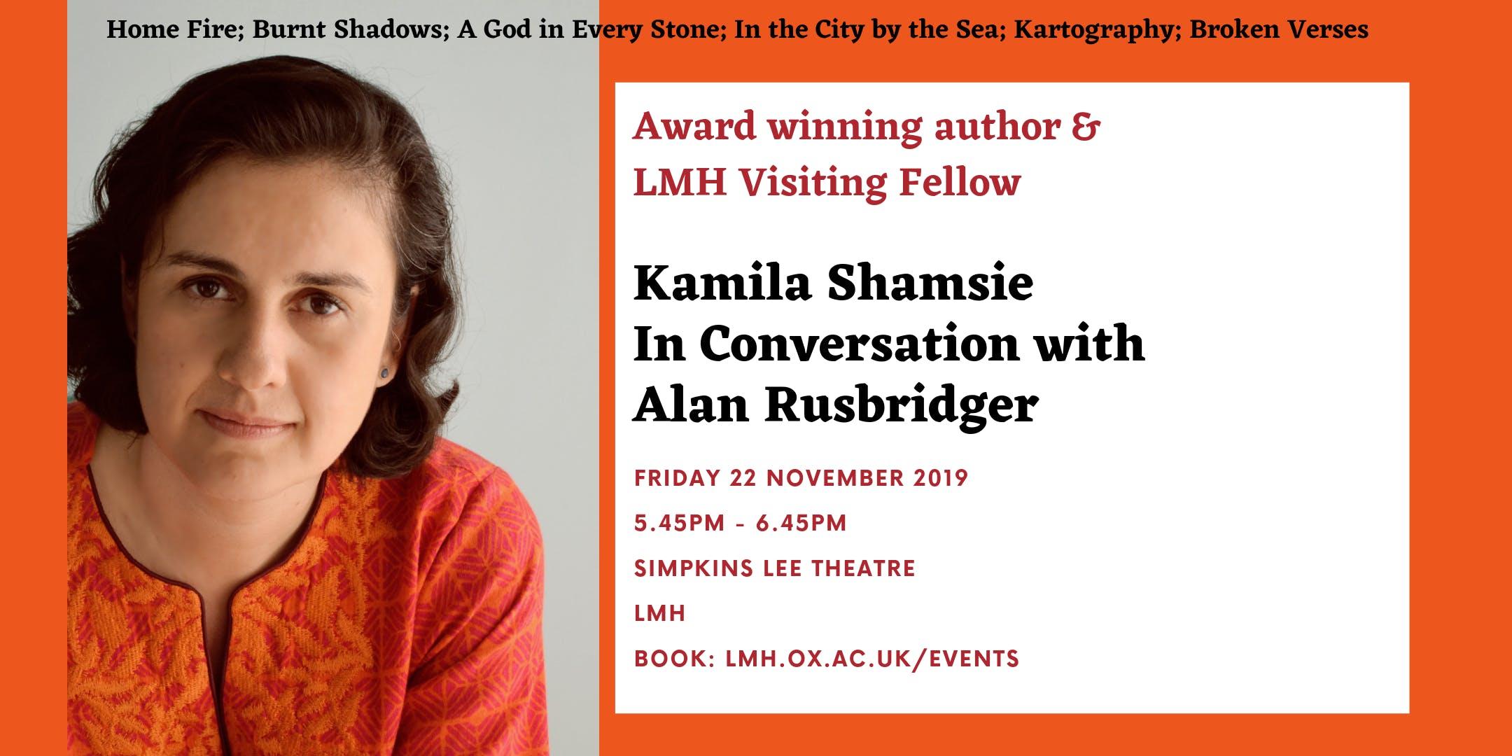 Kamila Shamsie In Conversation with Alan Rusbridger