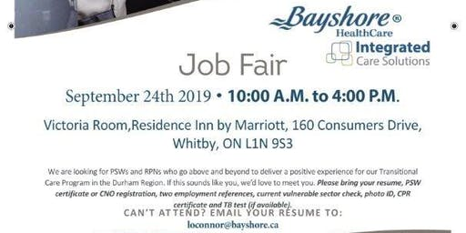 PSW/RPN Job Fair for Bayshore Healthcare - Whitby