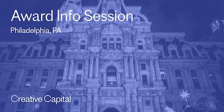 Creative Capital 2020 Award Application Info Session - Philadelphia tickets