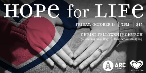 Arc Stories & Sav-A-Life presents Hope for Life: Stories of Hope and Healing