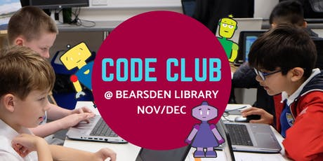 Nov/Dec Code Club @ Bearsden Library tickets