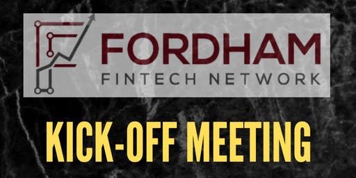 Fordham Fintech Network Fall Kick-Off Meeting