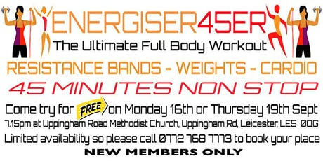 FREE ENERGISER 45ER WORKOUT tickets