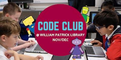 Nov/Dec Code Club @ William Patrick Library