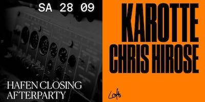 Hafen Closing Afterparty: Karotte & Chris Hirose im Loft