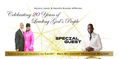 Covenant Faith Embassy Presents: Pastor Jamal Bryant - New Birth MBC - Pastor James & Apostle Brenda Jefferson - Celebrating 20 Years of Leading God's People! tickets