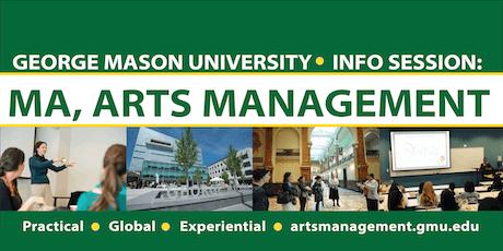 Arts Management at Mason Info Session: Graduate Studies tickets