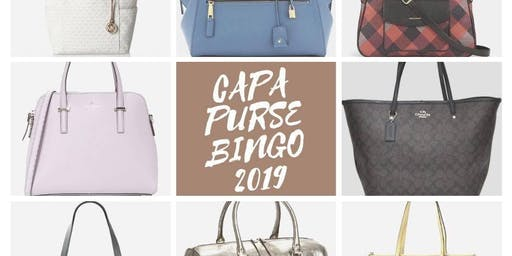 Friends of CAPA Designer Bag BINGO 2019!!!!!!