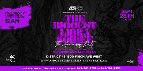The Biggest Libra Soiree tickets
