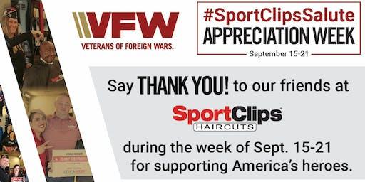 SportClips Salute Appreciation Week September 15-21, 2019