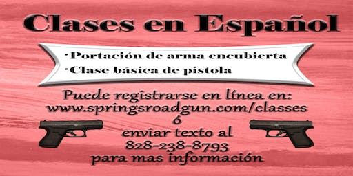 Concealed Handgun Class (In Spanish)
