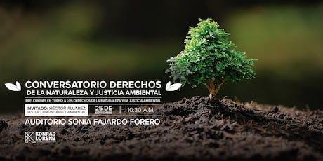 Conversatorio: Derechos de la naturaleza y justicia ambiental tickets
