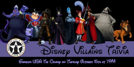 Disney Villains Trivia at Growler USA The Colony tickets