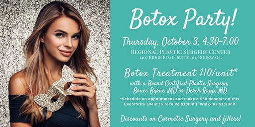 Botox & Bubbles Party - Regional Plastic Surgery Ctr