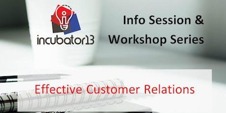 Workshop Series: Effective Customer Relations for Entrepreneurs tickets