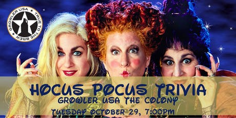 Hocus Pocus Trivia at Growler USA The Colony tickets