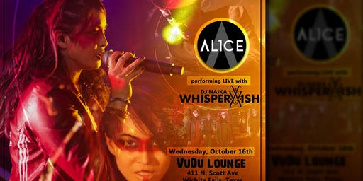 AL1CE performing Live at Vudu Lounge w/ DJ Whisperwish