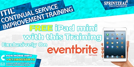 ITIL® Continual Service Improvement Certification Training in Darwin tickets