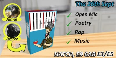 Week Behind Bars ~ Live at Hatch #2 (Poetry, Rap & Music, Open Mic)