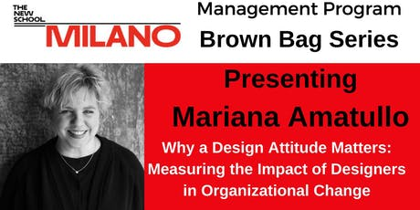 Milano Management Presents: Why a Design Attitude Matters tickets