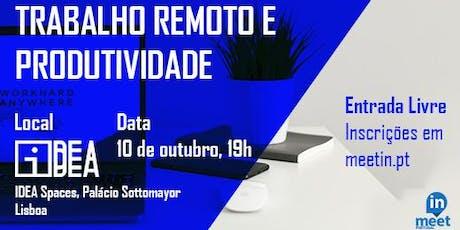 MeetIN Lisboa: Trabalho Remoto e Produtividade bilhetes
