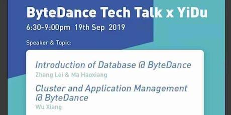 ByteDance Tech Talk X YiDu tickets
