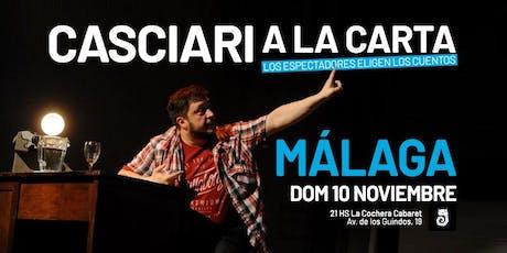 Casciari a la carta — DOM 10 NOV, Málaga entradas