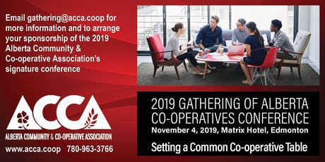 2019 Gathering of Alberta Co-operatives Conference and MLA Reception tickets