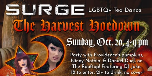 """Surge - LGBTQ+ Tea Dance - """"The Harvest Hoedown"""""""