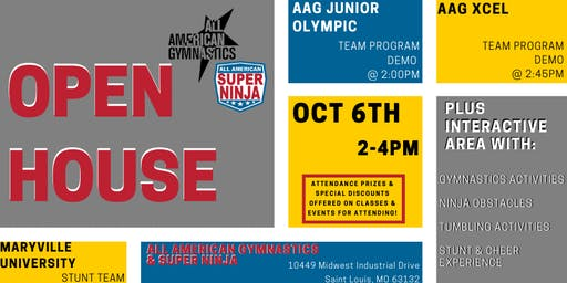 Open House: All American Gymnastics & Super Ninja