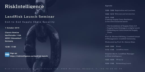 End-to-End Supply Chain Security & Risk Management Seminar / Free / Sign up
