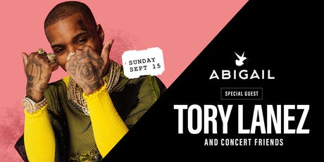 """TORY LANEZ hosts ABIGAIL Sunday    The """"INDIGO"""" Concert Afterparty tickets"""