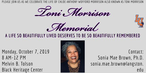Toni Morrison Memorial