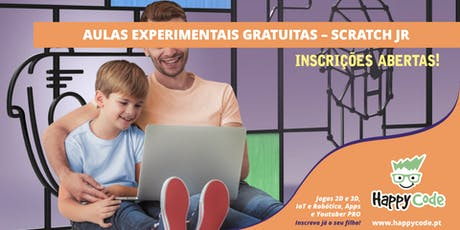 Aula Experimental Gratuita - Scratch Jr 5-7 anos (Happy Code Campo Ourique) bilhetes