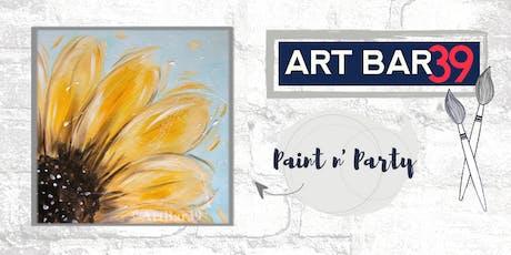 Paint & Sip | ART BAR 39 | Public Event | Fall Sunflower tickets