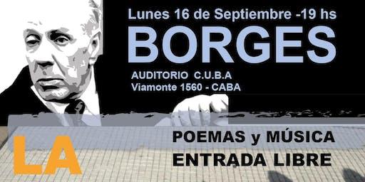 """Borges Poemas  y música """"La otra Vereda"""""""