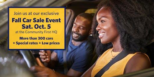 Fall Car Sale Event