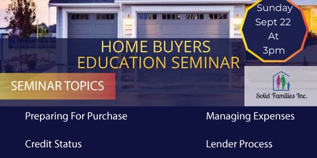 Home Buyers Seminar- Solid Families tickets