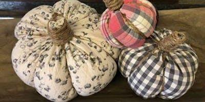 Fabric Pumpkin Making Class