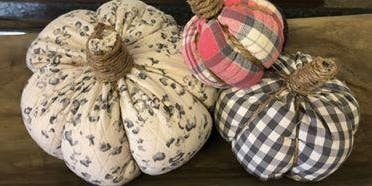 Fabric Pumpkin Making Class