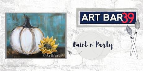 Paint & Sip | ART BAR 39 | Public Event | White Pumpkin tickets