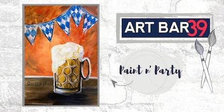 Paint & Sip | ART BAR 39 | Public Event | Oktoberfest Brew tickets