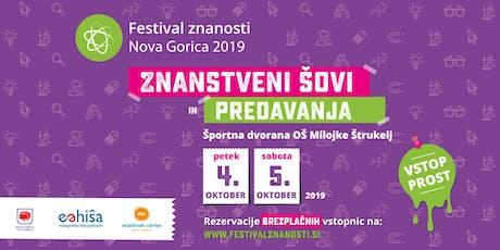 FESTIVAL ZNANOSTI NOVA GORICA 2019 biglietti
