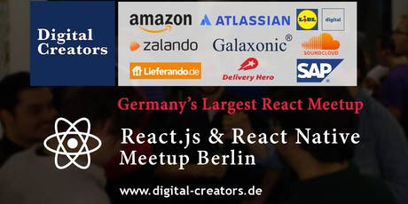 ⚛ Germany's largest React Meetup, React.js & React Native tickets