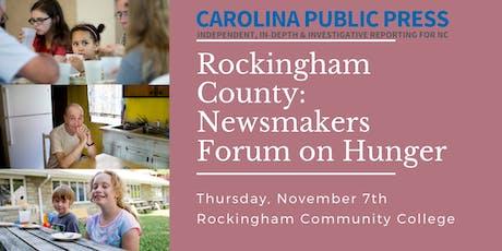 Newsmakers Forum on Hunger: Rockingham tickets
