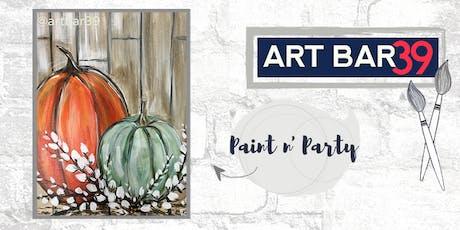 Paint & Sip | ART BAR 39 | Public Event | Rustic Pumpkins tickets