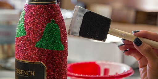 Glitter Your Own Wine Bottle Workshop