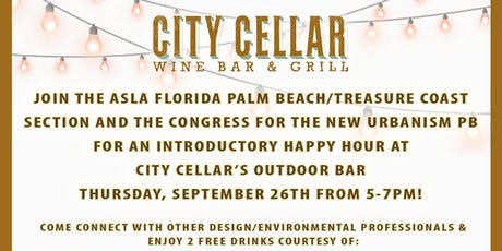 ASLA Florida & CNU PB City Cellar Happy Hour tickets